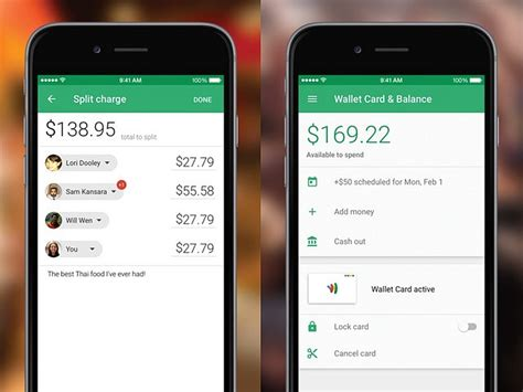 google wallet ios app update brings  ui improves