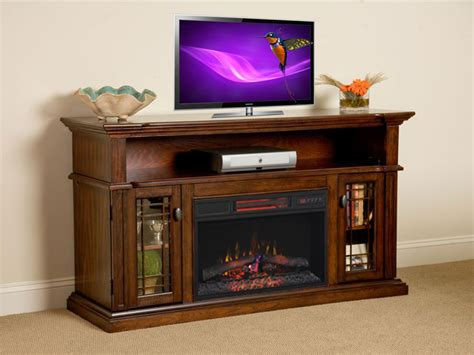Electric Fireplace Tv Stand Canada by Wallace 26 Quot Infrared Empire Cherry Media Console Electric