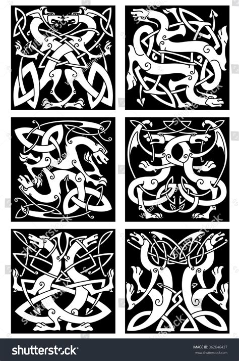 pattern magic italiano magic dragons celtic patterns traditional medieval stock