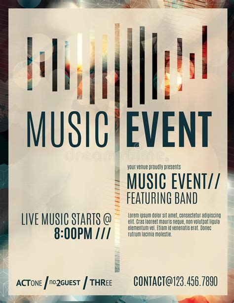 Music Event Flyer Template Stock Vector Illustration Of Blurry 48002844 Event Poster Template