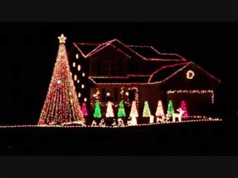 2011 brown christmas light show dueling jingle bells