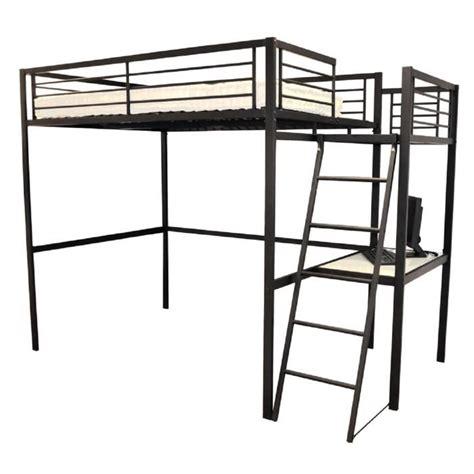 lit mezzanine 140 avec bureau lit mezzanine plateforme geffi avec tablette de bureau