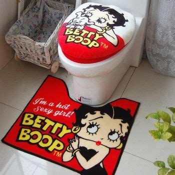 tamehome toilet seat cover set betty boop bath toilet