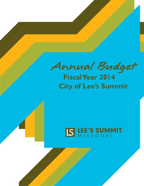 lees summit section 8 city of lee s summit fy 2014 budget by city of lees summit issuu