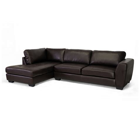 baxton studio leather sofa baxton studio orland leather modern sectional sofa home