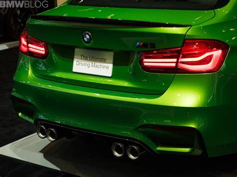 java green bmw 2018 chicago auto show bmw m3 in java green