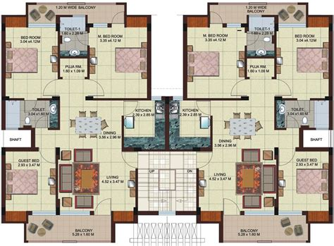 floor layout plans multi unit 2 bedroom condo plans google search modern