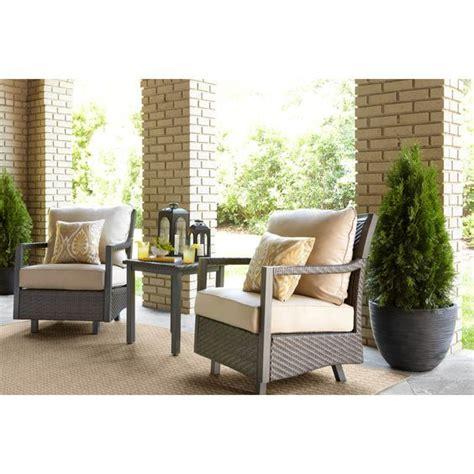 shop allen roth set of shop allen roth set of 2 hayton gray aluminum woven seat