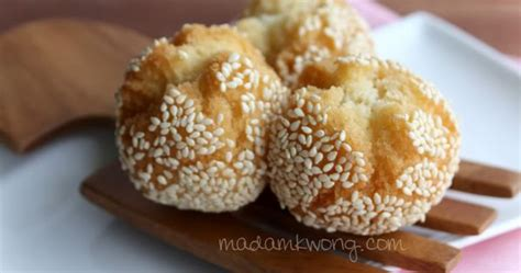 new year fried food 187 fried laughing balls recipe madam kwong s kitchen