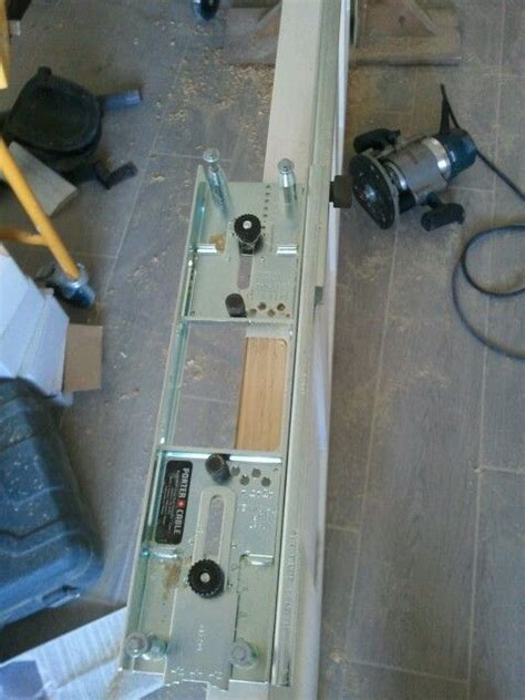 routing door hinge mortise porter cable template jig