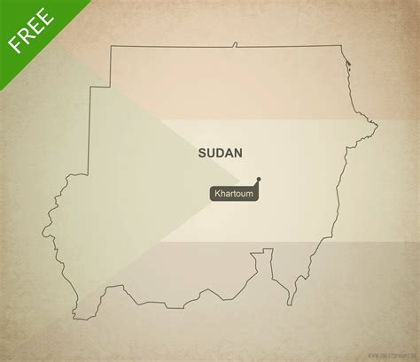 South Sudan Map Outline by Free Vector Map Of Sudan Outline One Stop Map
