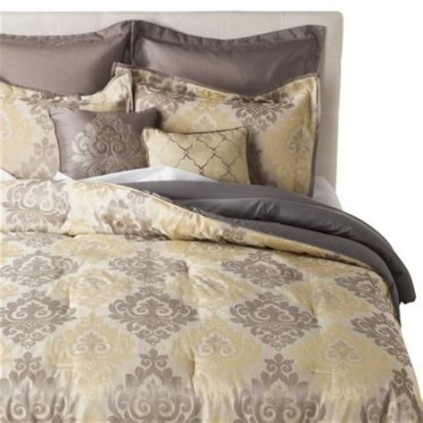 Target Grey Bedding by Jacquard 8 Comforter Set From Target This