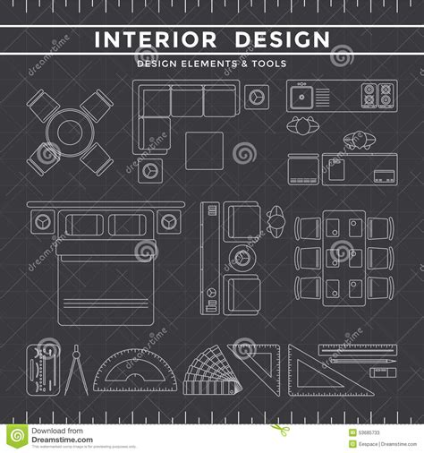 interior design tool background design equipment icon interior layout line