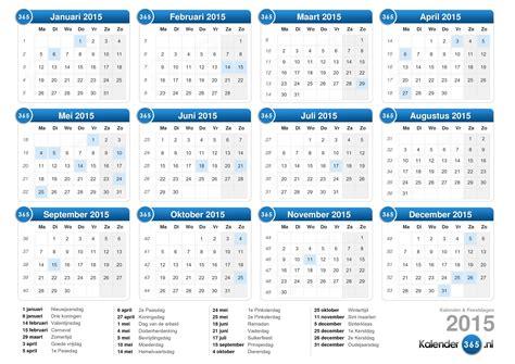 Kalender 2018 Per 4 Weken Kalender 2015
