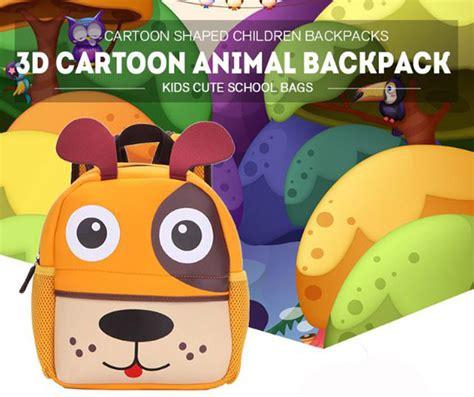 Tas Anak Sekolah Lucu tas sekolah anak gambar kartun hewan lucu pink