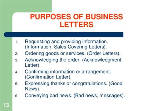 Business Letter Writing Notes notes how to write business letters
