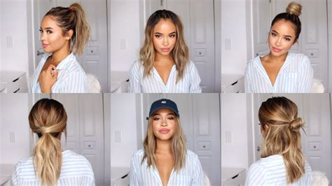 and easy hairstyle ideas for school bethany