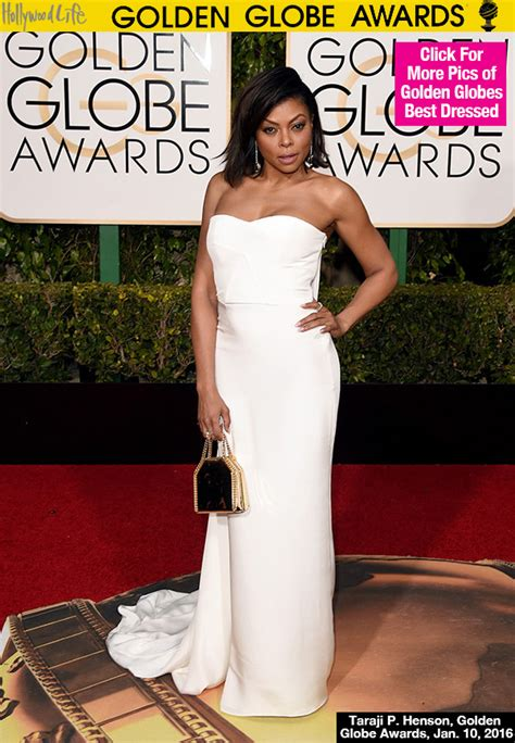 White At The Golden Globes by Taraji P Henson S Dress At Golden Globes Radiant In