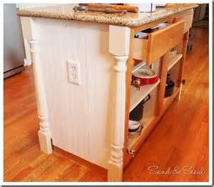 How To Install Beadboard - how to add half newel posts and beadboard wainscot to dress up a boring builders grade island