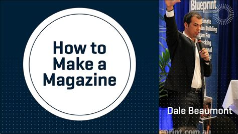 how is it to make how to make a magazine