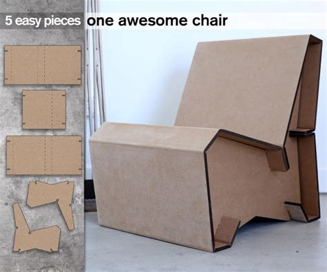 cardboard furniture templates 5 cardboard lounge chair 6 steps with pictures