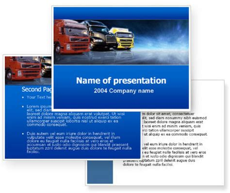 templates for logistics presentation logistics powerpoint template poweredtemplate com 3
