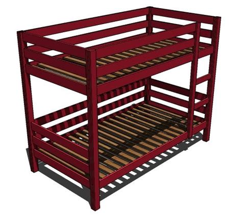 Simple Bunk Bed Plans by Simple Sturdy Bunk Bed Plans Woodworking Projects Plans