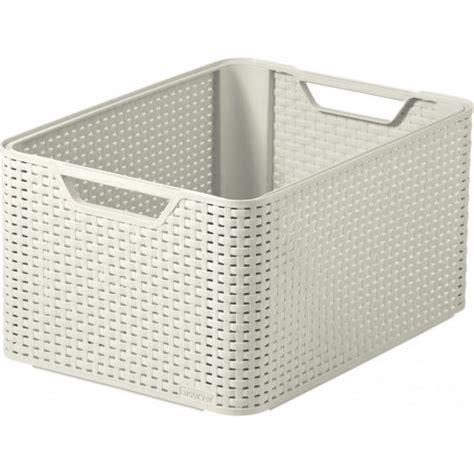 Storage Boxes For Bathroom Buy Large Rattan Style Plastic Storage Basket That Stacks