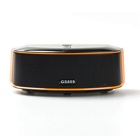 Speaker Bluetooth Bass gs bass portable bluetooth speaker gs809 black