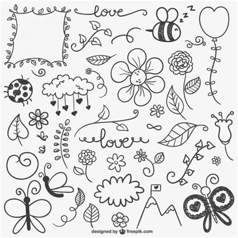 doodle vectors free kalligraphische verzierungen eingestellt der