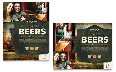 design poster publisher brewery brew pub poster template word publisher