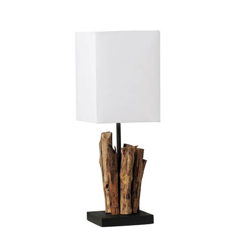Outdoor Flood Lamps by Paul Neuhaus 1939 Abuja Driftwood Hand Made Table Lamp