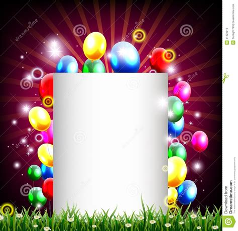 birthday background with place for text and grass