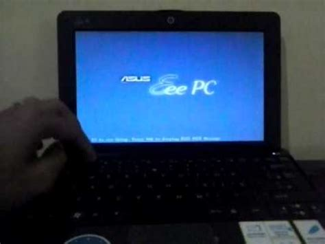 Kenapa Laptop Asus Blue Screen configurando boot por pendrive eee pc