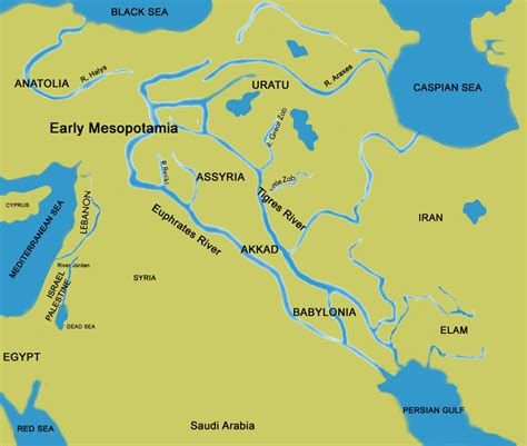 ancient middle east map river map of the middle east rivers