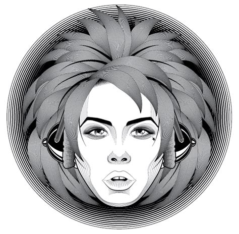 tutorial photoshop line art how to create a line art based symmetrical portrait in