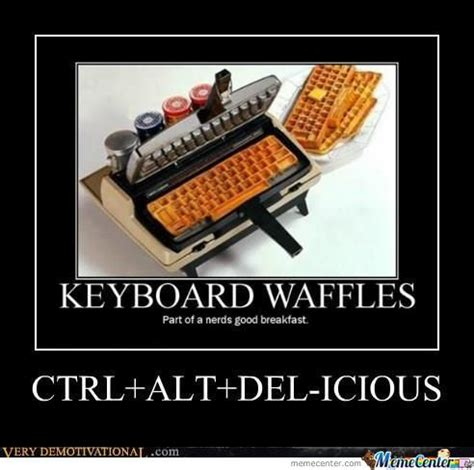 Waffles Meme - keyboard waffle maker by recyclebin meme center