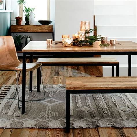 dining tables with benches and chairs elm furniture store box frame dining table wood west elm