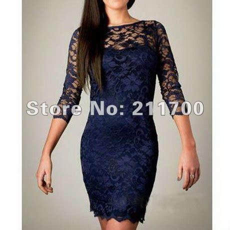 43564 Blue Royal Lace S M L Dress Le230517 Import womens lace dress