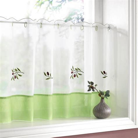 Kitchen Curtains Uk Olives Kitchen Textiles Range Net Curtain 2 Curtains