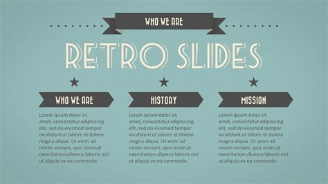 Retro Slides Powerpoint Template Widescreen By Retro Powerpoint Template