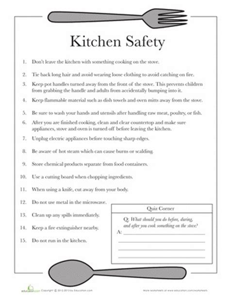 Safety Tips In Kitchen by Basic Kitchen Cooking Safety Tips Charts Dishing It