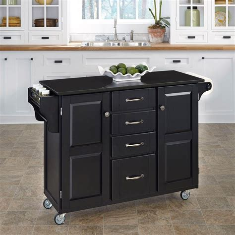 Kitchen Cart Home Outfitters Home Styles Create A Cart Black Kitchen Cart With Black