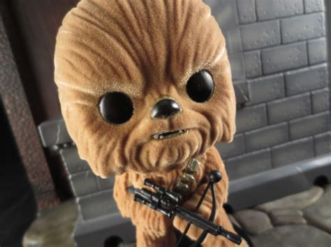 Pop Lanyard Wars Chewbacca figure barbecue figure review chewbacca 63 flocked from pop wars by funko