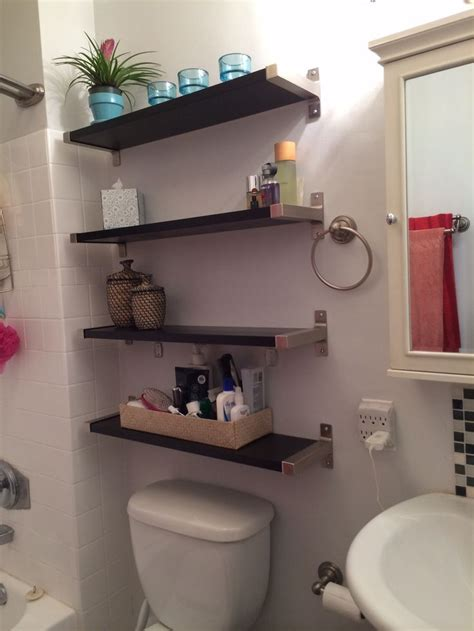 Shelves For Small Bathrooms Small Bathroom Solutions Ikea Shelves Bathroom Pinterest Toilets Towels And