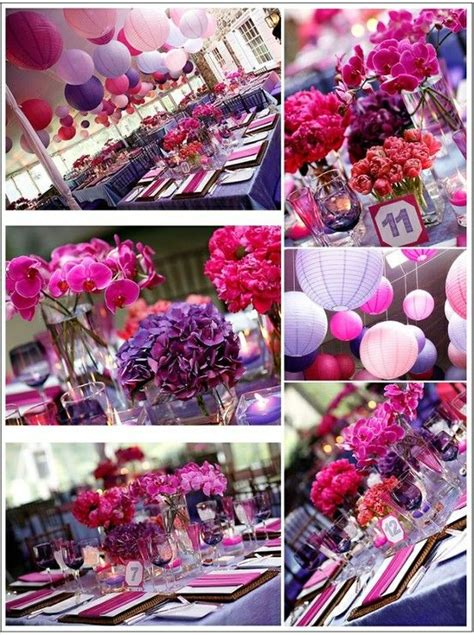 what you make it a purple and fuschia wedding flores fuschia wedding purple