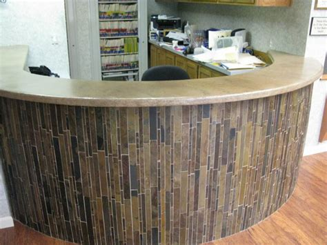 countertop desk for office reception desks gta countertops