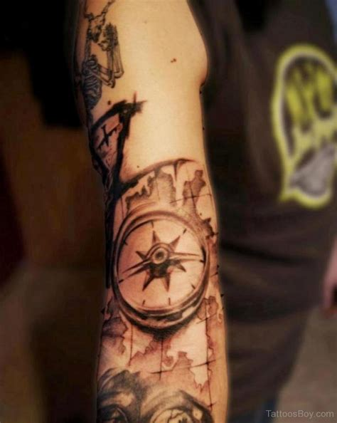 compass and map tattoo compass tattoos designs pictures page 2