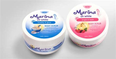 Scrub Marina Uv White dua langkah untuk kulit lebih sehat dan cerah momdadi