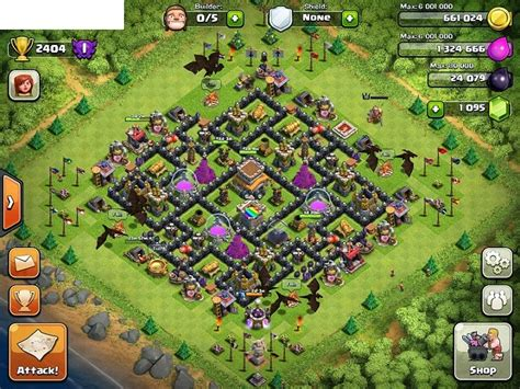 coc layout th 8 ensidia clash of clans best th 8 defense layout